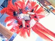 art textile mode scene de genre : Plumes et Boa