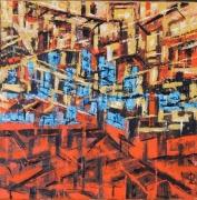 tableau architecture : le rouge et le bleu