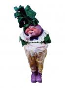 sculpture personnages navet turnip feuilles : navet