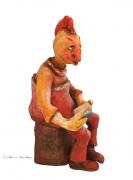 sculpture personnages oiseau livre penseur philosophe : Philosophe