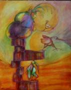 tableau personnages oiseau vue panoramique gros colis : Pas si lourd que ça
