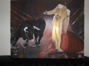 tableau personnages contemporain corrida : un magnifique condamné