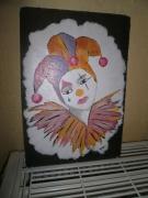 mixte personnages cirque clown enfant fille : Arlequin Mauve