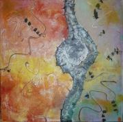tableau abstrait abstrait grande toile multicolore grand tableau carre : CREATION