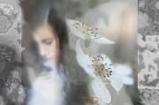 art numerique scene de genre fille fleur douceur romantique : Fleur à coeur
