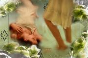 art numerique fille fleur romantique eau : Aqua1