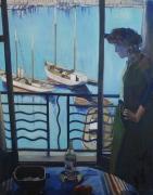 tableau personnages marseille port marquet impressionisme : Julia