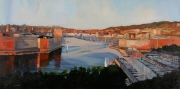 tableau port marseille panorama impressioniste : L'entrée du port