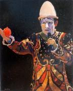 tableau personnages cirque clown : Le clown blanc