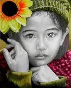 mixte personnages portrait enfant : Candeur infantile