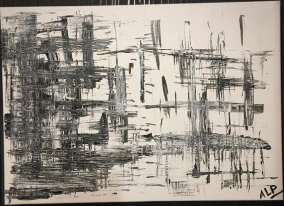 TABLEAU PEINTURE Abstrait Acrylique  - MAILLAGE