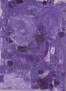 tableau abstrait : Violet voilé