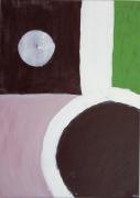 tableau abstrait : VERT D'O