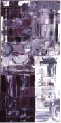 tableau abstrait : A MOITIE