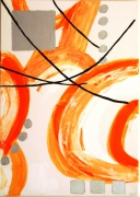 tableau abstrait : ECLAT D'ORANGE