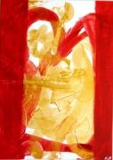 tableau abstrait : CADEAU DE NOEL