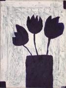 tableau fleurs : TULIPES VIOLETTES