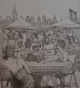 """tableau personnages dessin personnages new york femmes : """"La théorie du complot"""""""