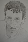 tableau personnages portrait personnage pastel autoportrait : AUTOPORTRAIT