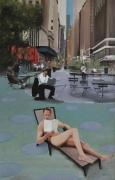 """tableau personnages new york voyages time square amerique : """"La vie dans le sens du poil"""""""