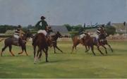 """tableau sport sport polo cheval cavaliers : """"Les derbys de La Baule"""""""