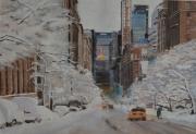 "tableau villes new york manhattan neige amerique : ""The dream on the edge of tomorrow"