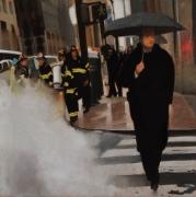 """tableau personnages new york pluie amerique personnage : """"Le ciel peut attendre"""""""