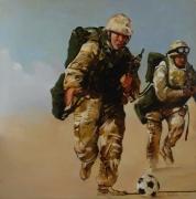 """tableau personnages militaires football gi guerre : """"La terrible épreuve de la mort subite"""""""