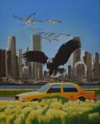 """tableau villes new york villes oiseaux taxi : """"On a retrouve le magot mais les voleurs courent toujours&q"""