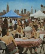 """tableau personnages new york amerique terrasse femmes : """"La théorie du complot"""""""
