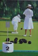 tableau scene de genre bowling jeux australie sport : Monsieur et Madame Smith au bowling.