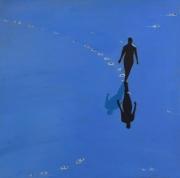 """tableau personnages personnages mer bleu : """"Rencontre inattendue avec l'ami de Wigner"""""""