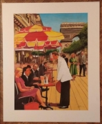"""tableau personnages champselysees arc de triomphe paris terrasses : """"Une brève histoire du temps"""""""