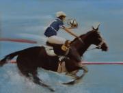 """tableau sport horseball chevaux cavaliers sport : """"La légende du Vicomte de Perth"""""""