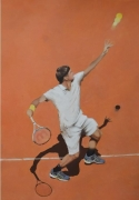 """tableau sport roger federer tennis roland garros sport : """"N'ayez pas peur, surtout ne paniquez pas"""""""