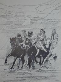 """Bozkachi en Mongolie"""