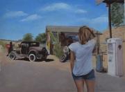 """tableau personnages amerique route 66 personnage paysage : """"La découverte de l'Amérique par Christine Colomb"""""""