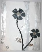 tableau fleurs design fleur relief unique : fleur de crystal