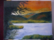 tableau paysages : le lac