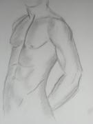 dessin nus nu homme : nu 1