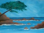 tableau paysages mer paysage : paysage méditéranné