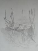 dessin paysages venise gondole : gondole a venise