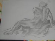 dessin nus nu homme : nu 4