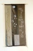 art textile mode abstrait leger decoratif tres original : abécédaire gris