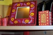 deco design fleurs decoratif : PETIT MIROIR