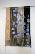autres abstrait abecedaire bleu tissus decoratif : Abécédaire bleu