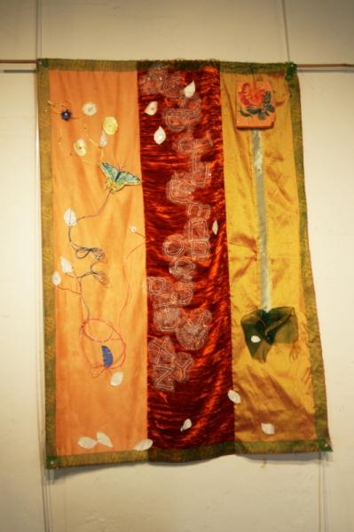 ART TEXTILE, MODE décoratif léger attrayant original Abstrait  - abécédaire aux papillons