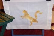 art textile mode animaux attrayant : Set de table au pochoir