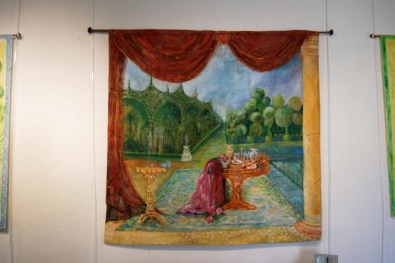 ART TEXTILE, MODE ATTRAYANT très décoratif Paysages  - l' allée du parc