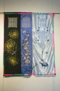 art textile mode fleurs abecedaire lumineux decoratif leger : abécédaire de printemps